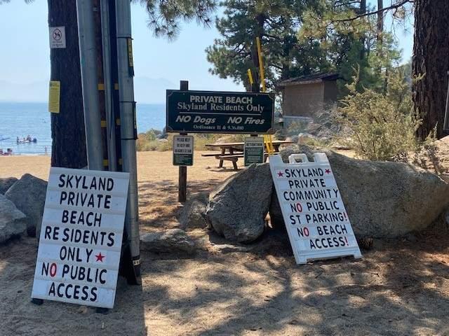 private-beach-signs