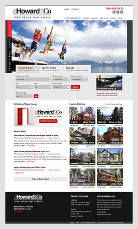 Lake Tahoe real estate website Deb Howard