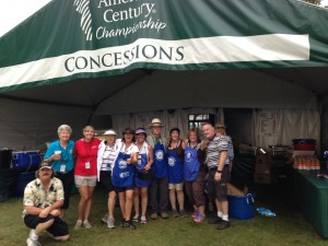 Deb Howard & Company 2014 volunteers at the Soroptimist tent at Tahoe Celebrity Golf